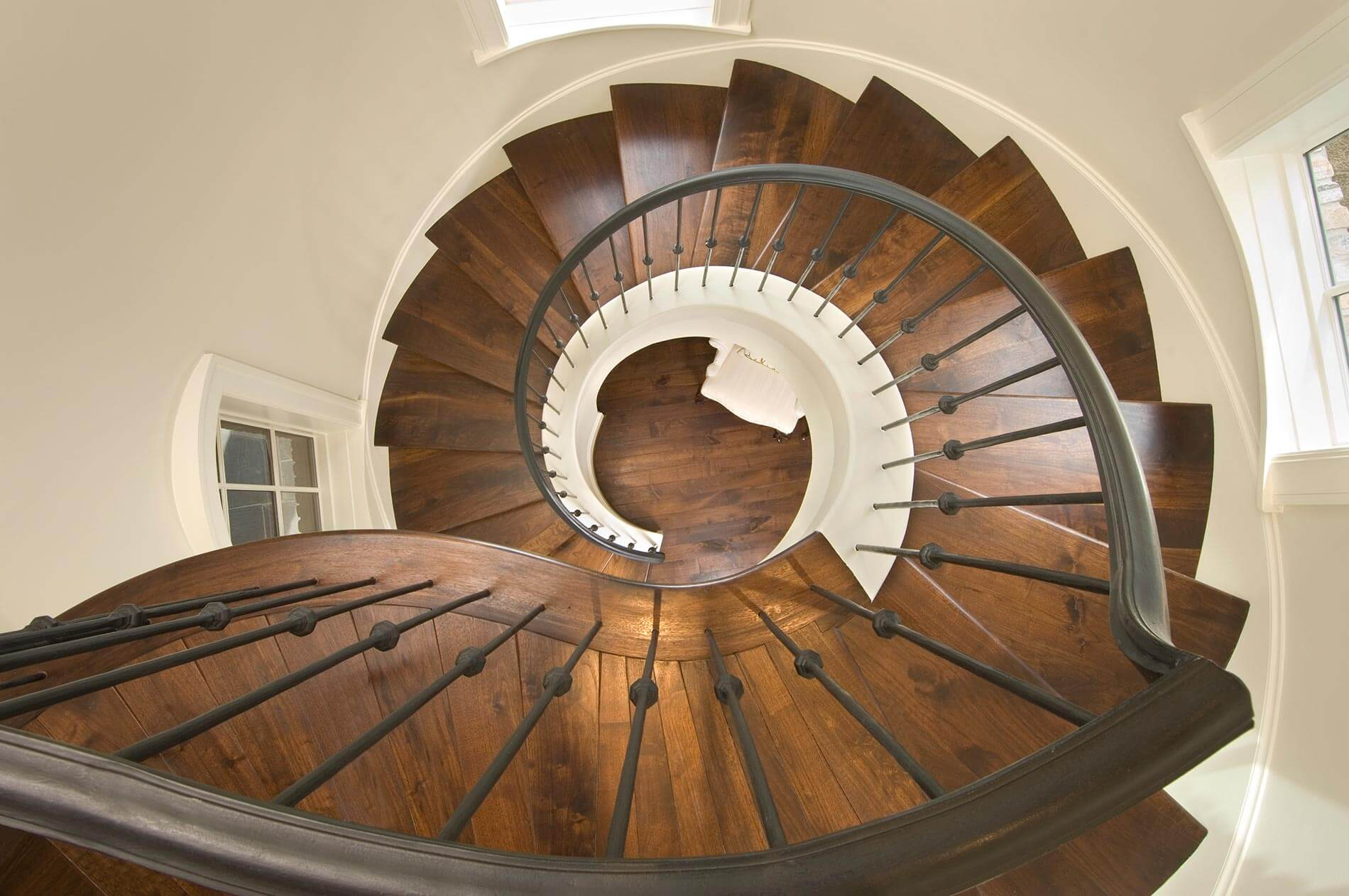 spiral staircase custom home build