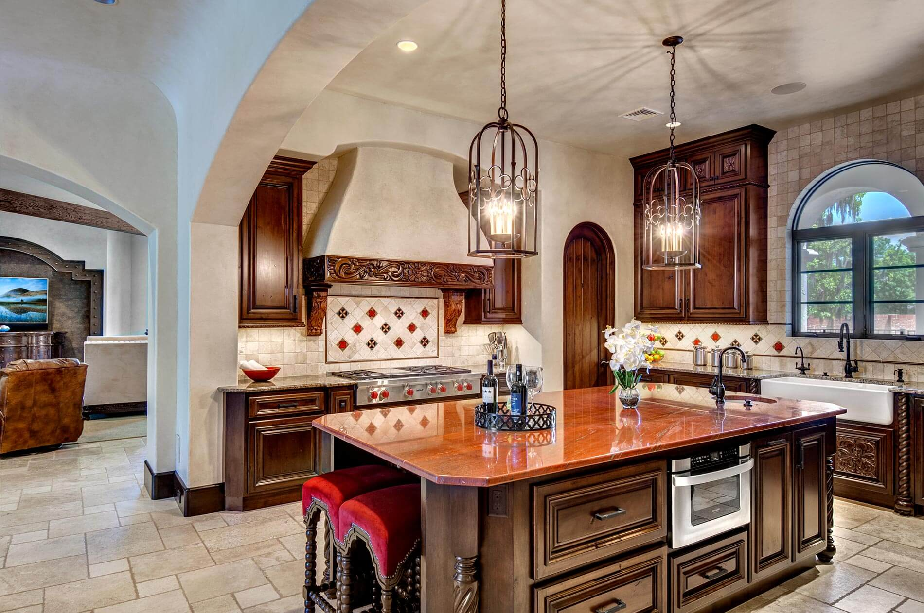 houston custom spanish style kitchen