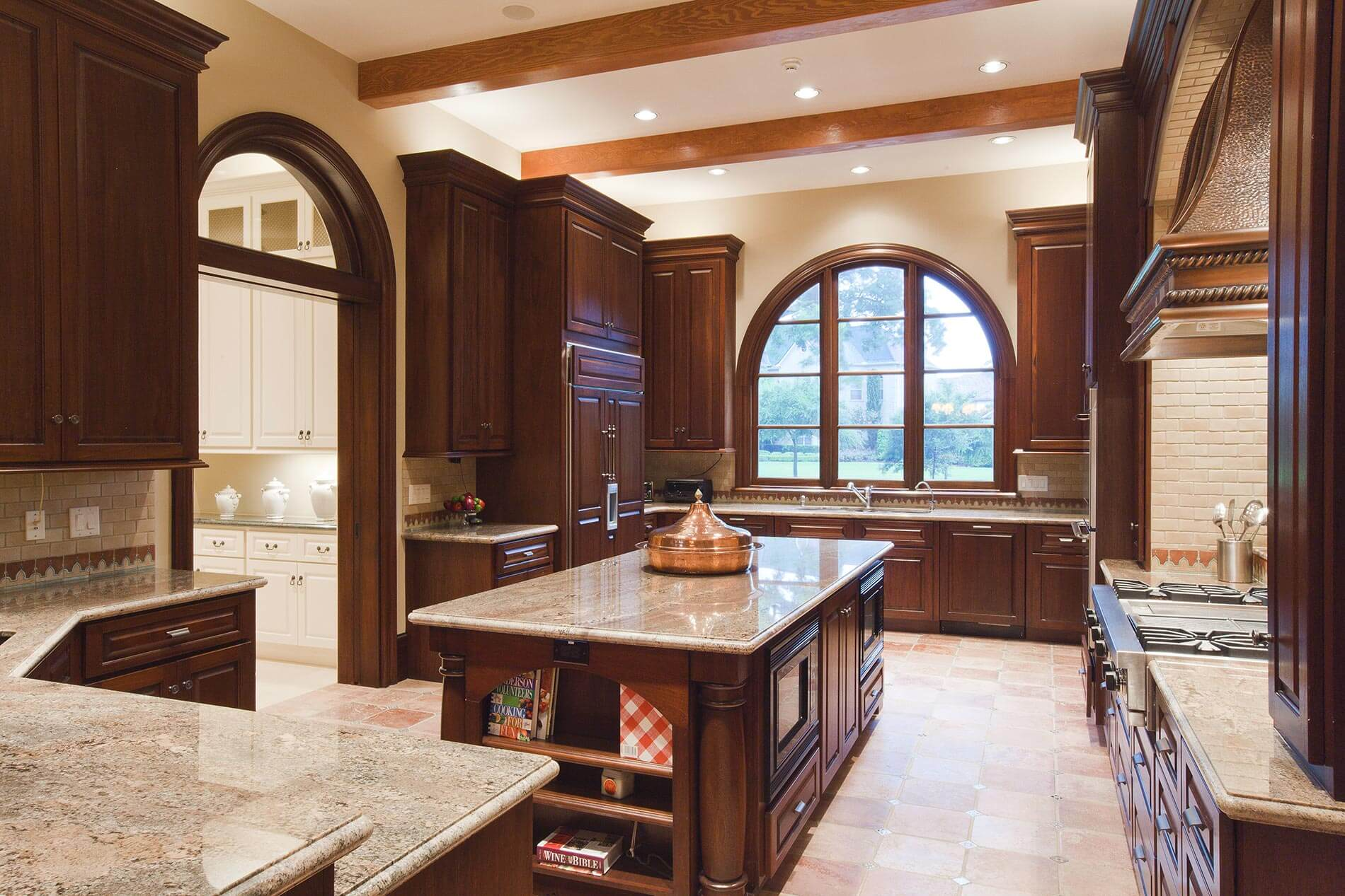 spanish mission custom built kitchen