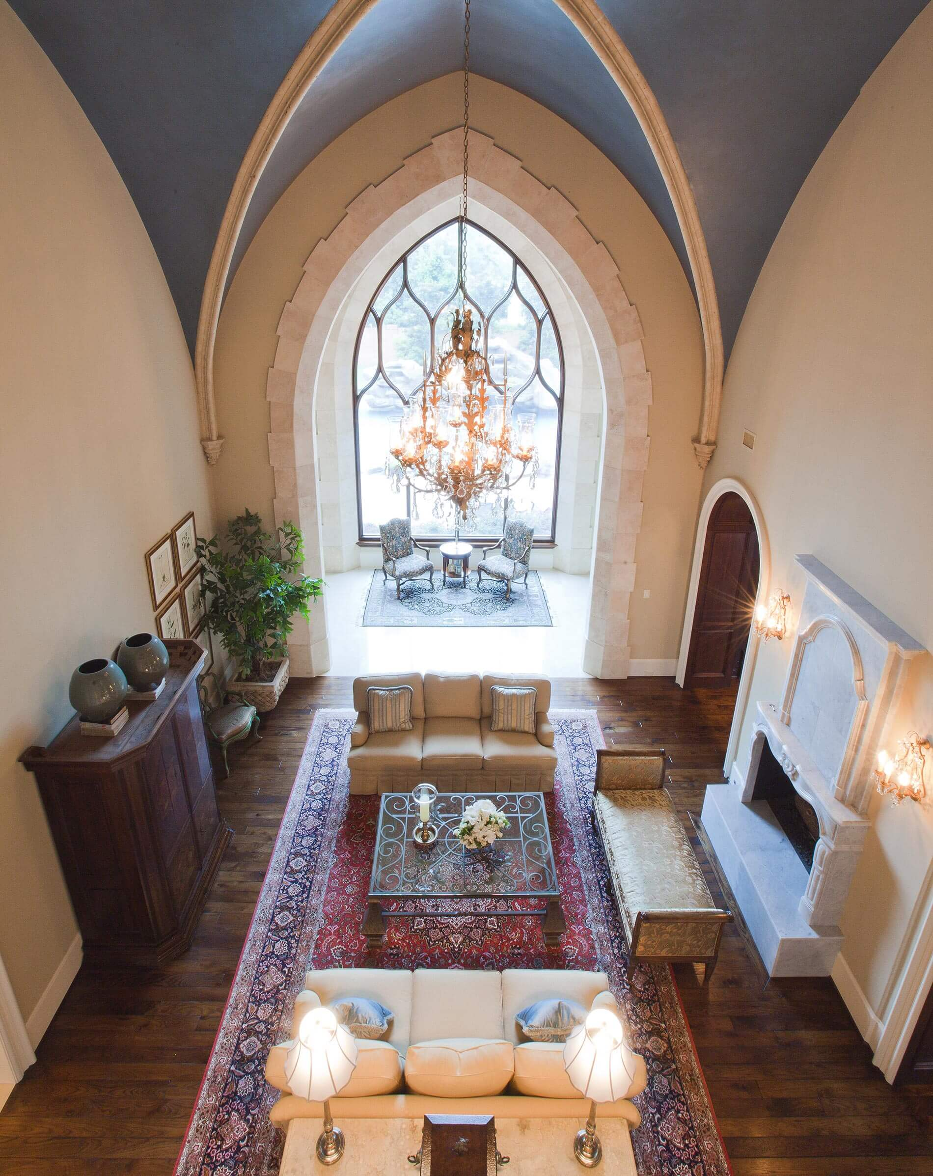 cathedral window custom built home houston