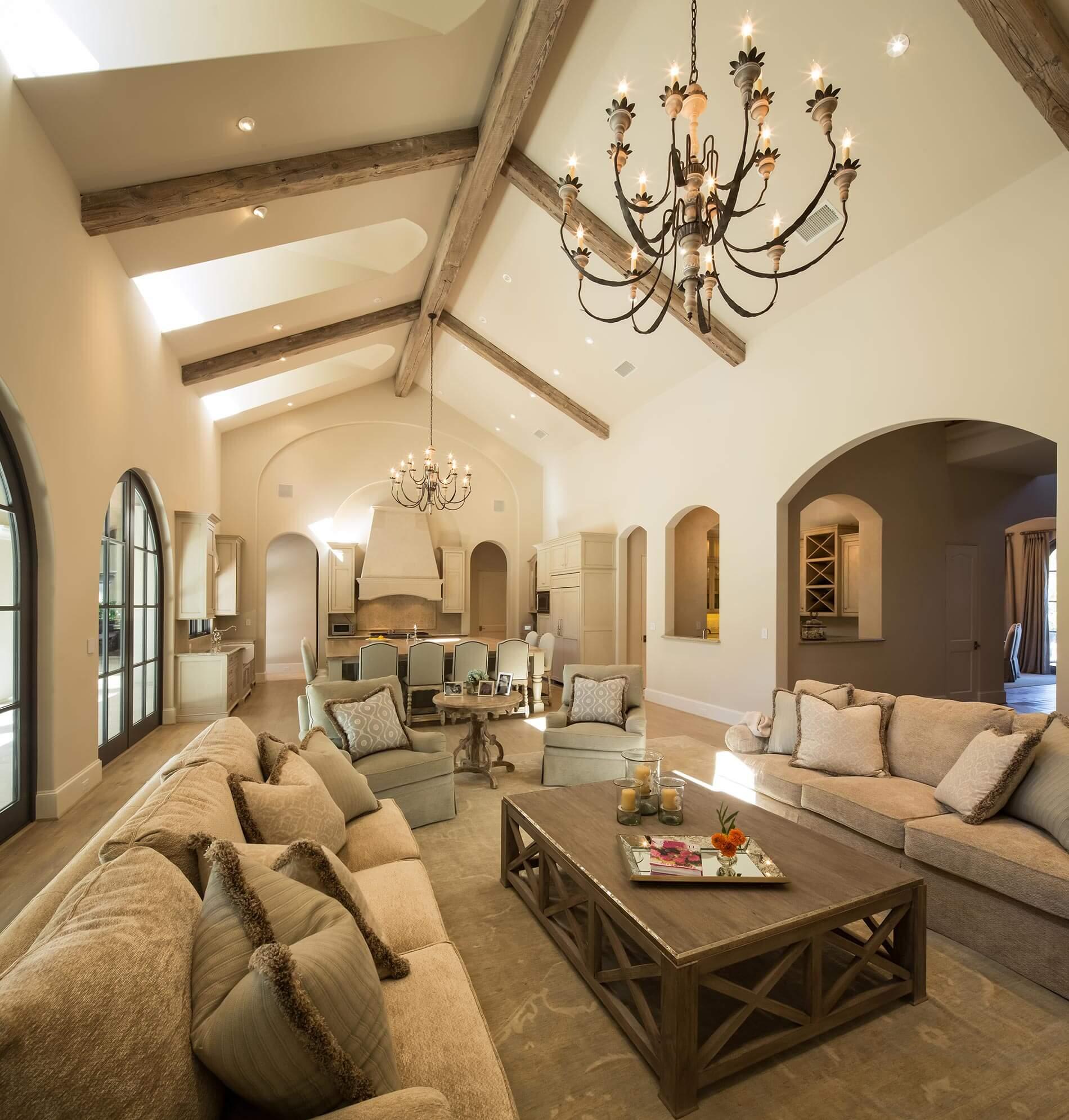 luxury home builder high ceilings