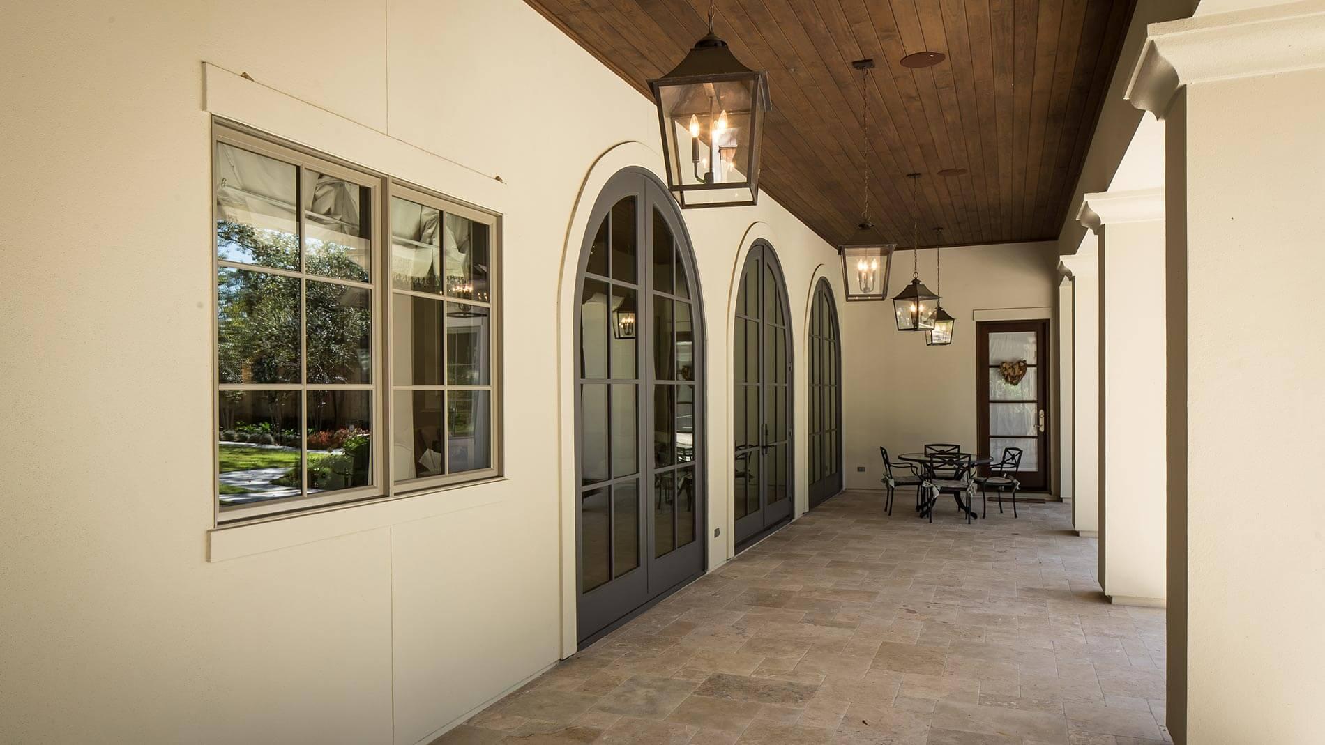 exterior doors luxury home build houston