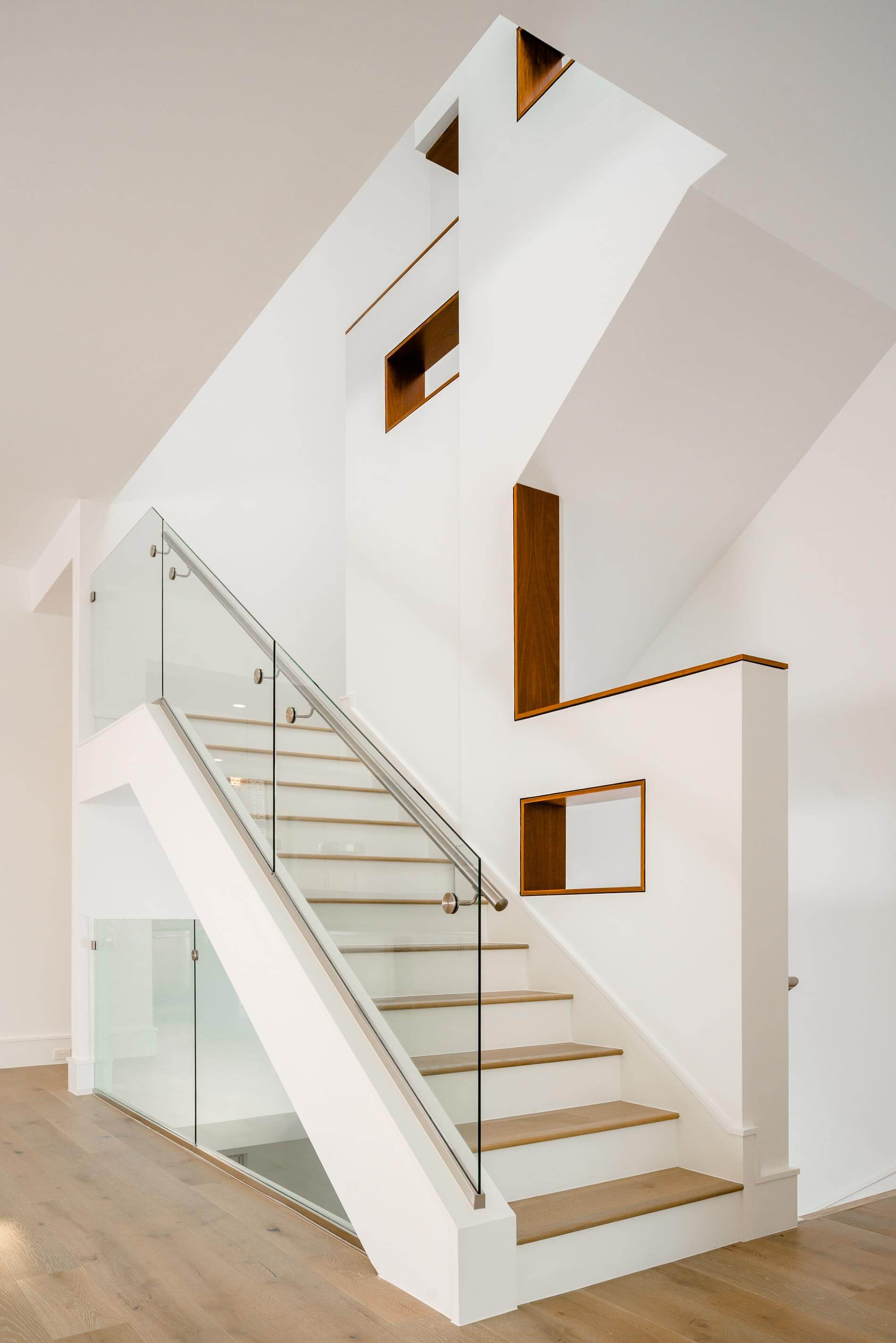 luxury townhome stairway