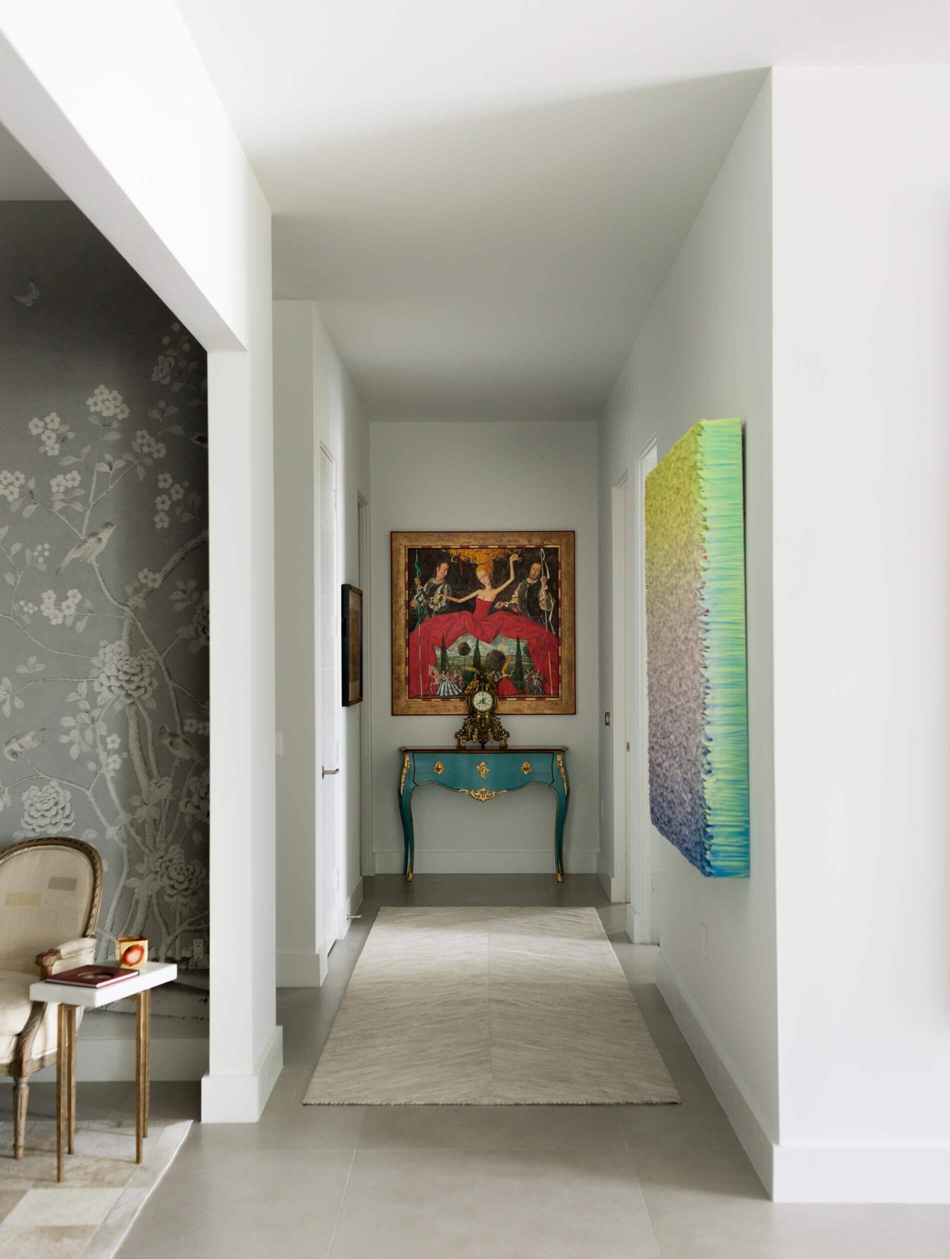 warm modern hallway