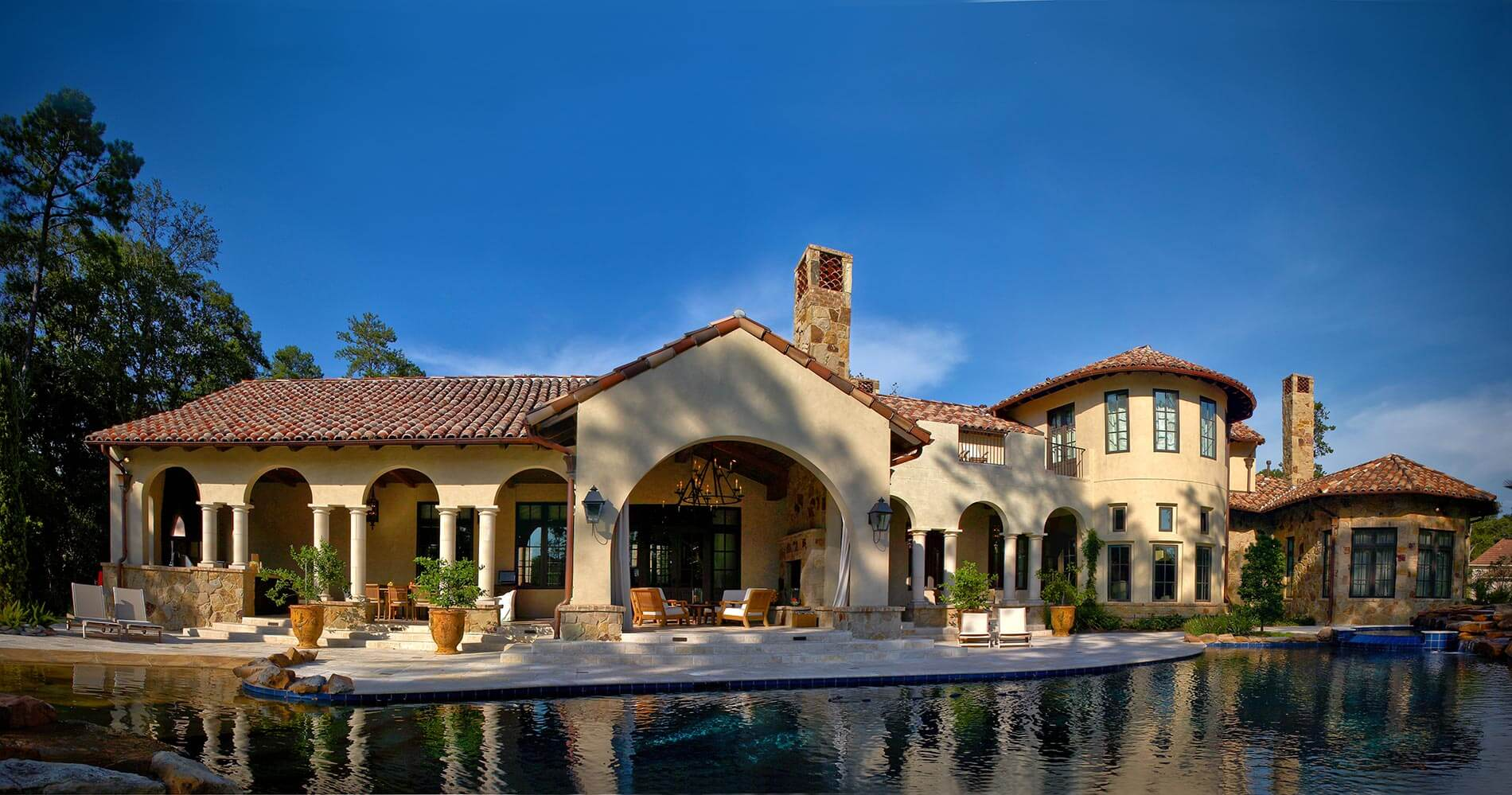 luxury home builders tuscan villa