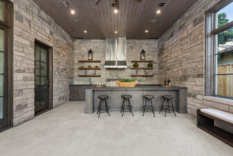 english country manor outdoor kitchen