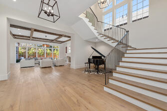 english country manor stairway