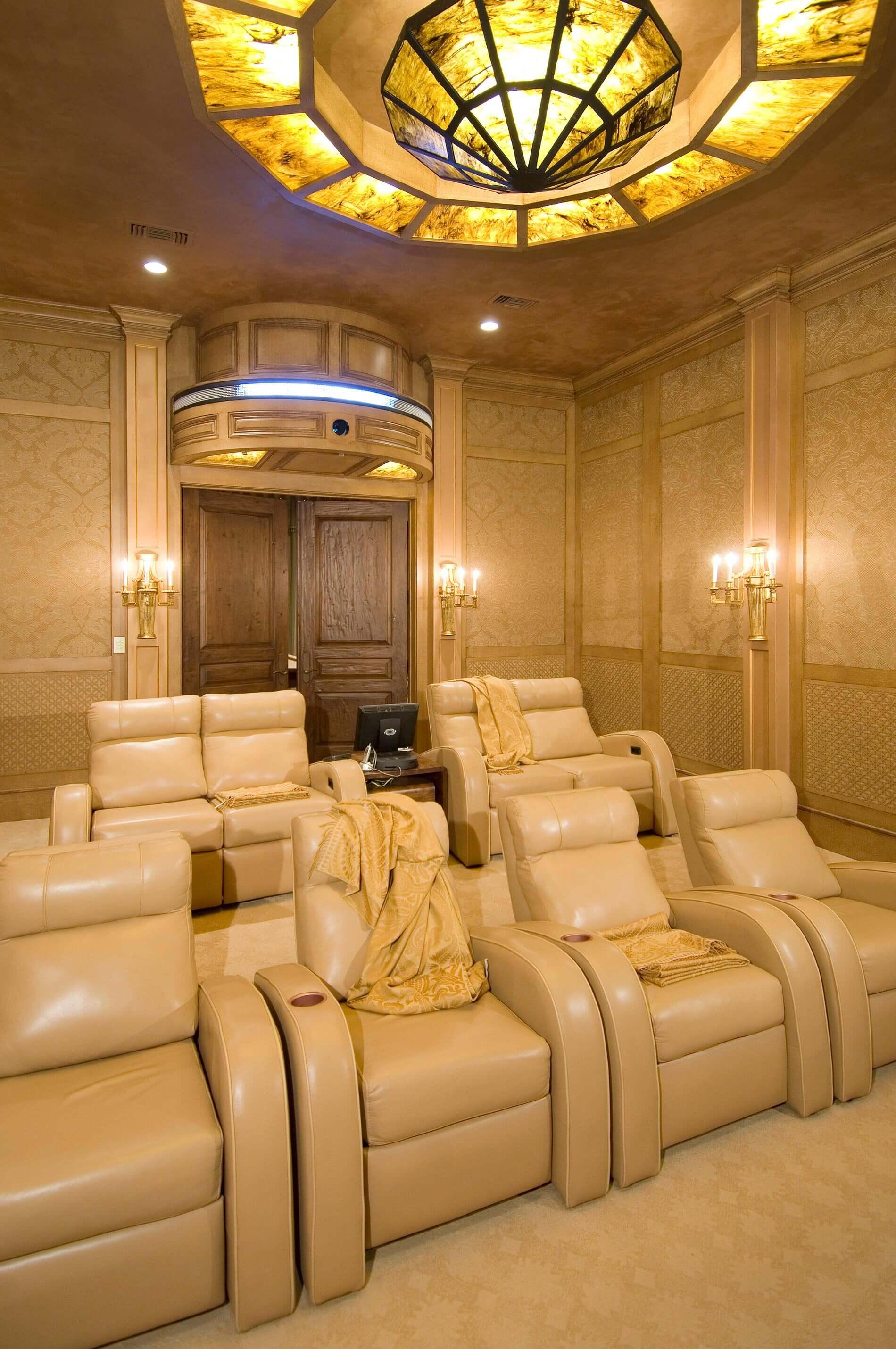 custom luxury media room