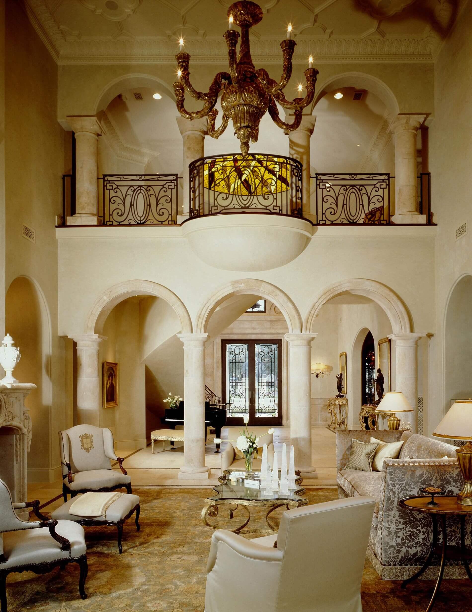 classic Mediterranean living room