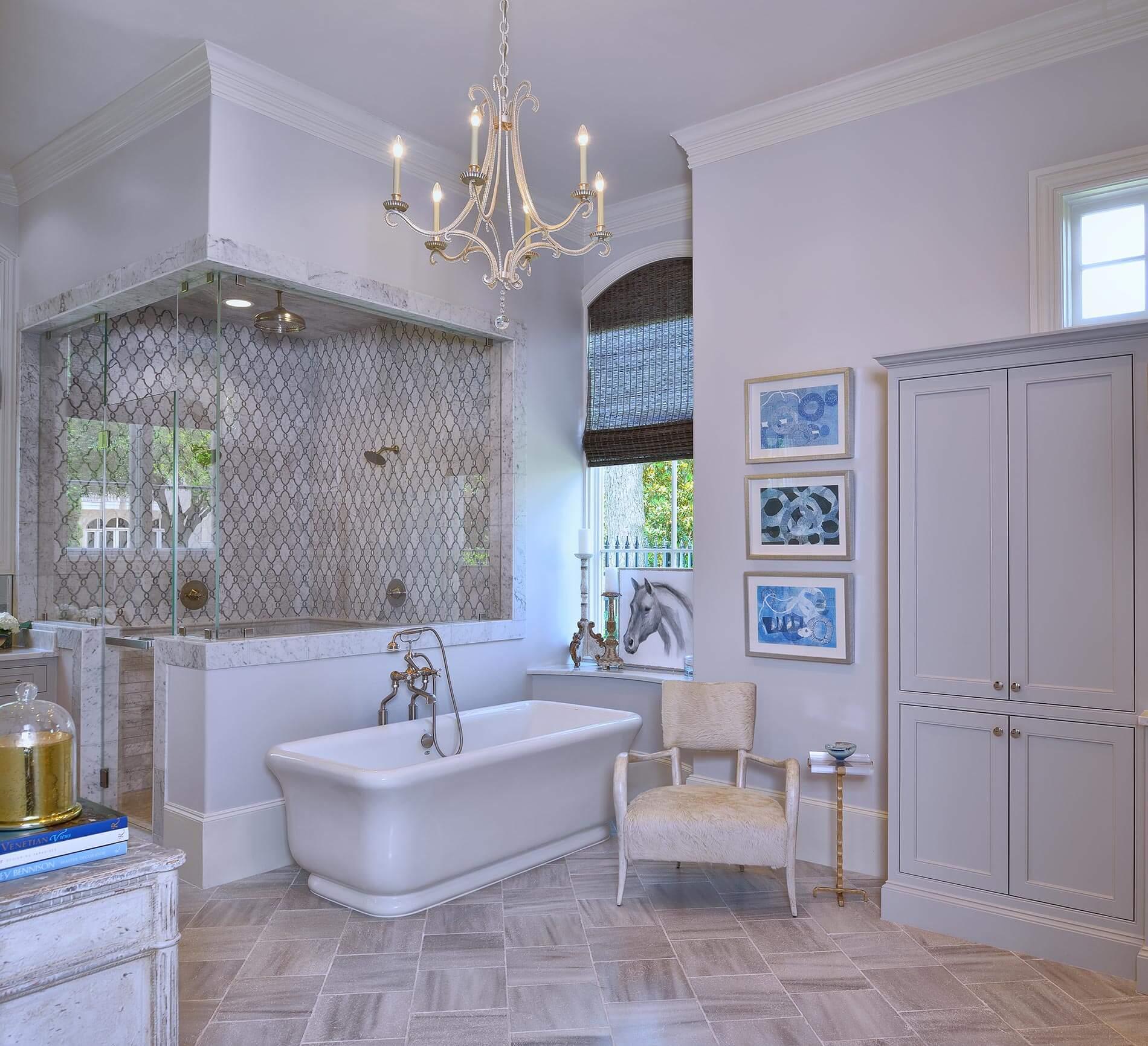 french manor bathroom interior styling