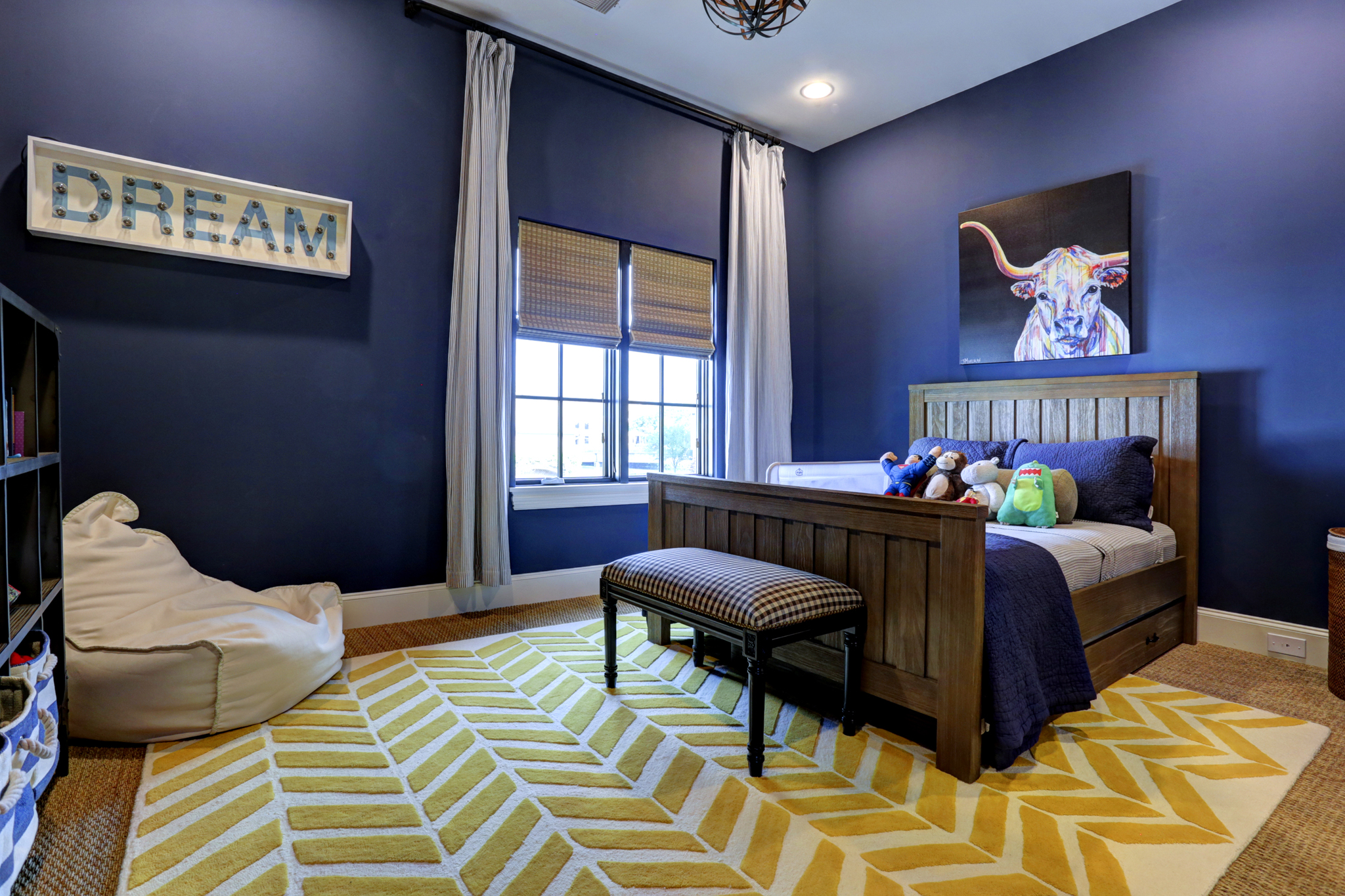 Transitional luxury home kids room