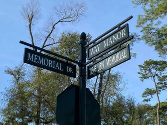 Located on the corner of Memorial Drive and Way Manor