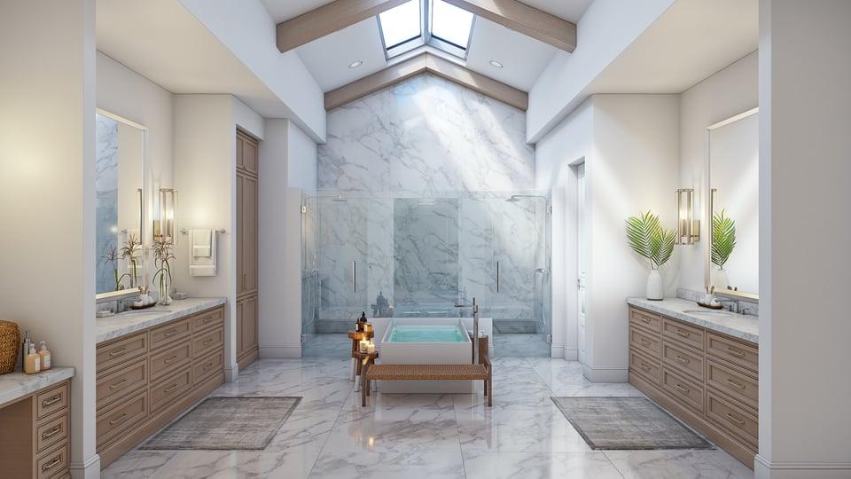english manor open bathroom