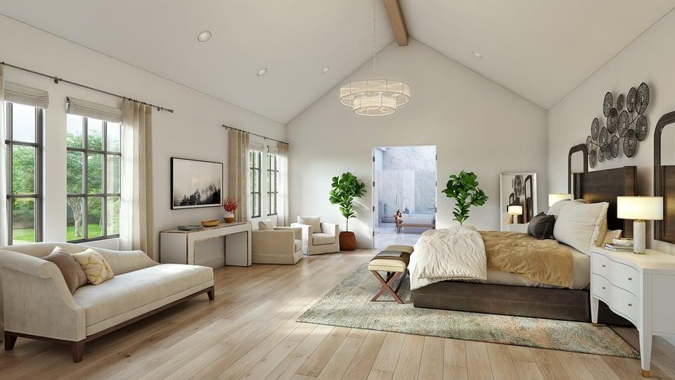 english manor open living room