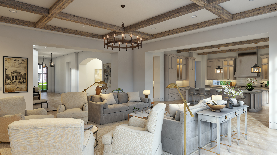 english manor living room