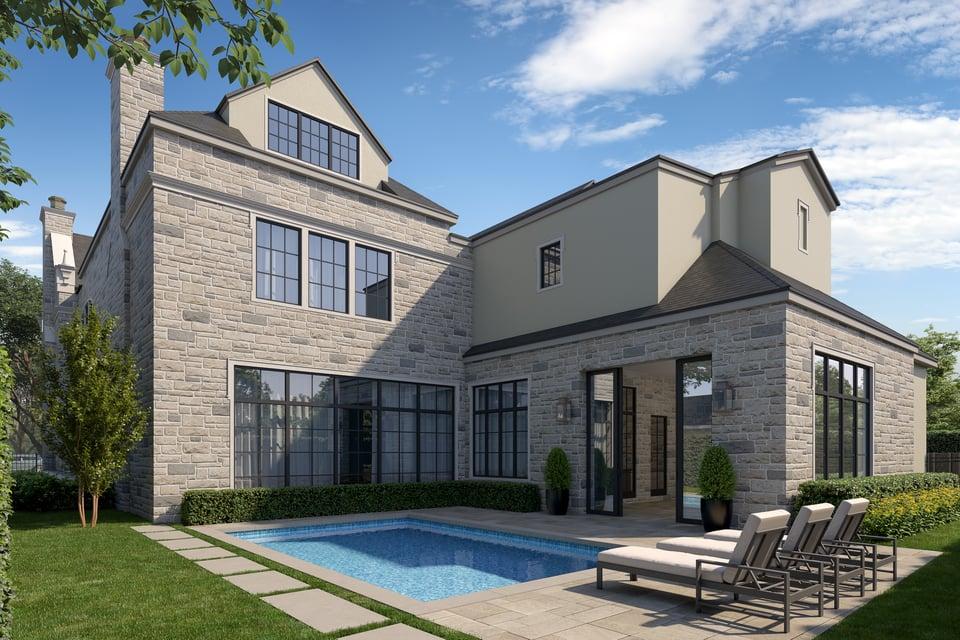 tanglewood luxury home pool