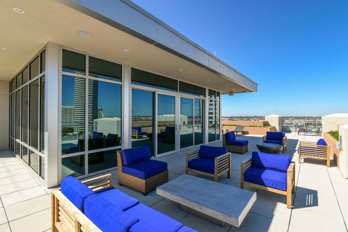 artistic condo rooftop patio