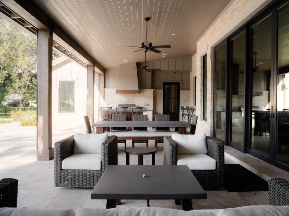 leed platinum back porch