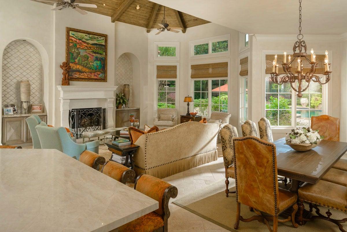 italianate mediterranean living room