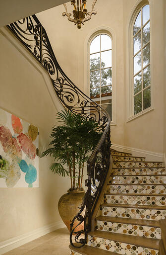 italianate mediterranean stairway