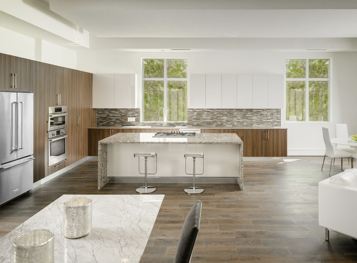 luxury townhouse kitchen houston