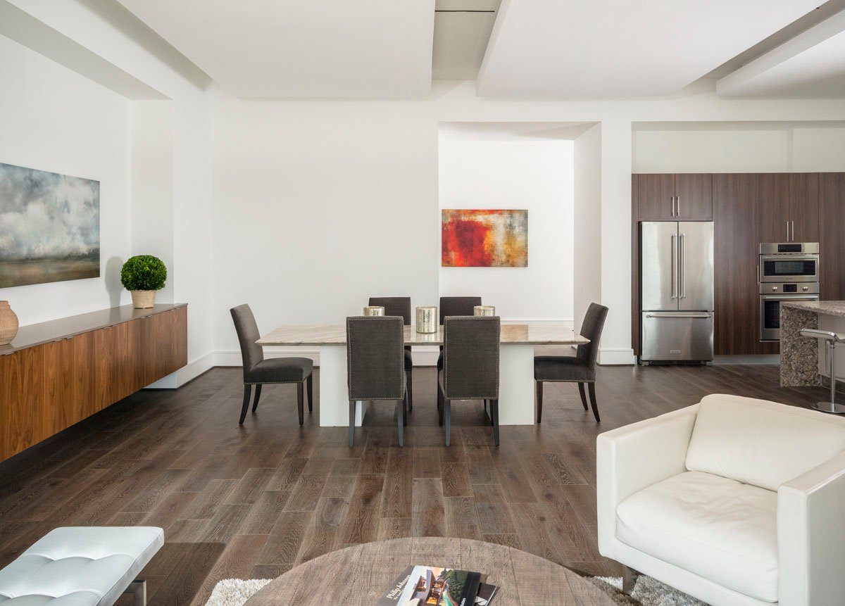modern townhouse dining room