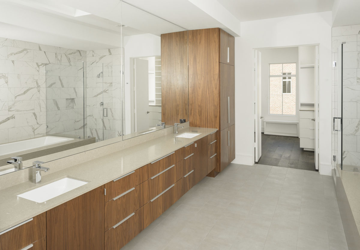 luxury bathroom townhome