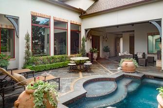 custom english back yard pool