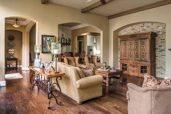 custom english living room