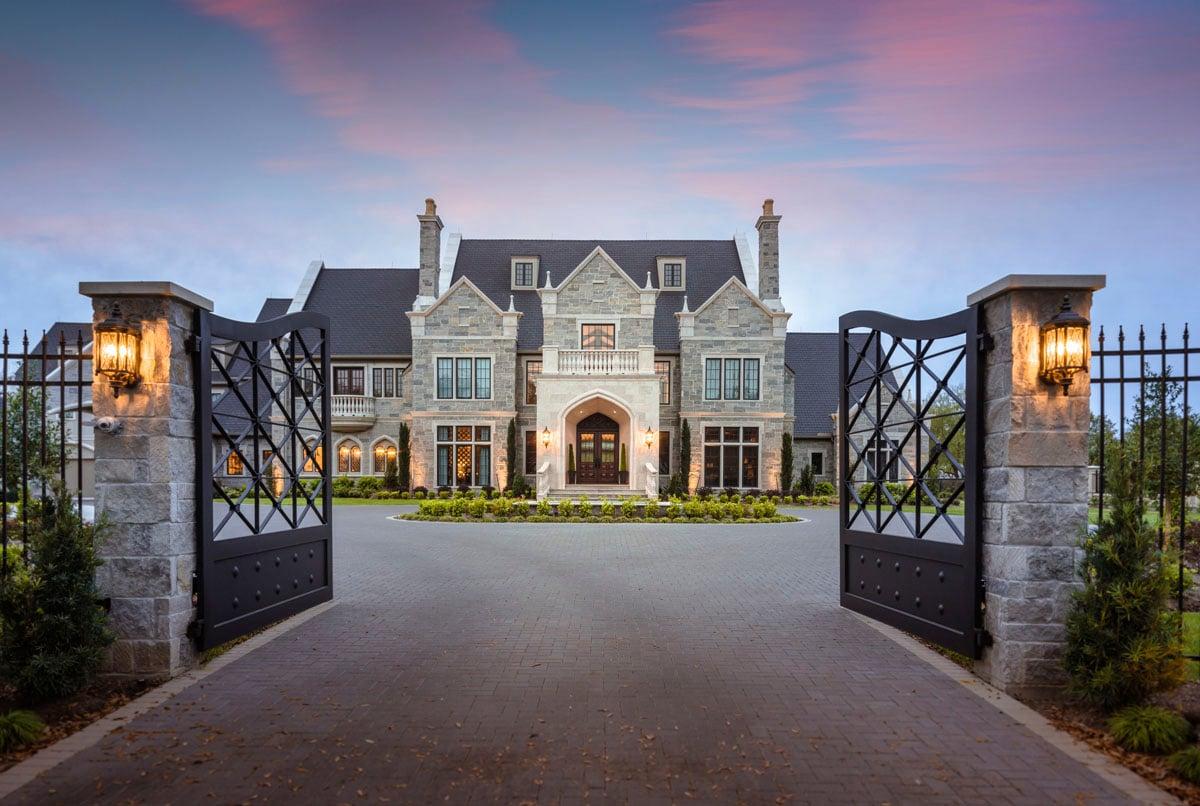 custom english tudor home main entrance
