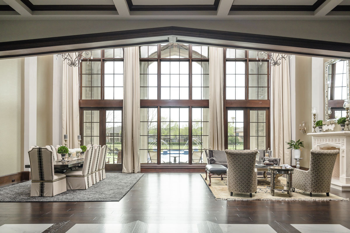 english tudor window view