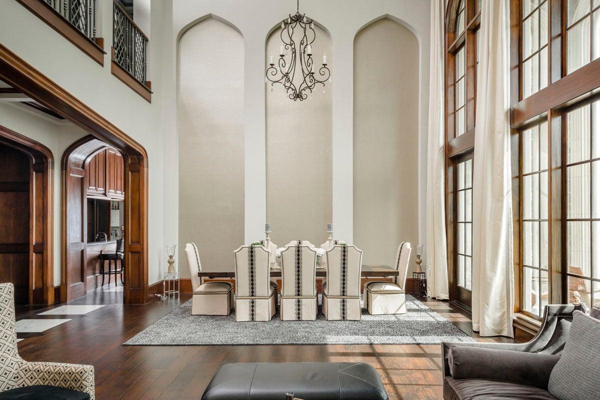 english tudor living room