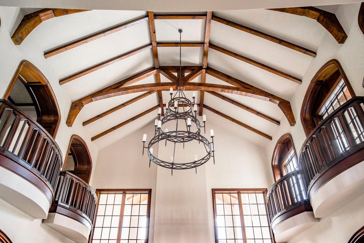 english tudor chandelier view first floor