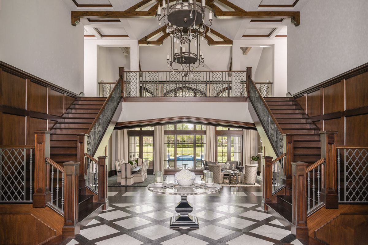 custom dual staircase houston