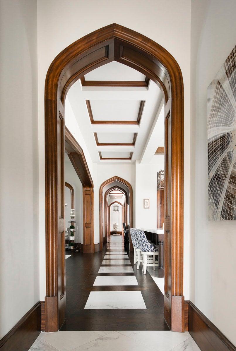 sims english tudor hallway