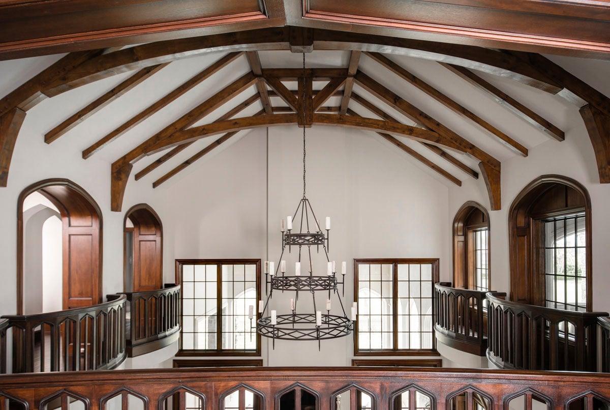 english tudor chandelier second floor