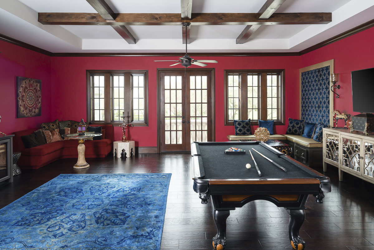 english tudor game room