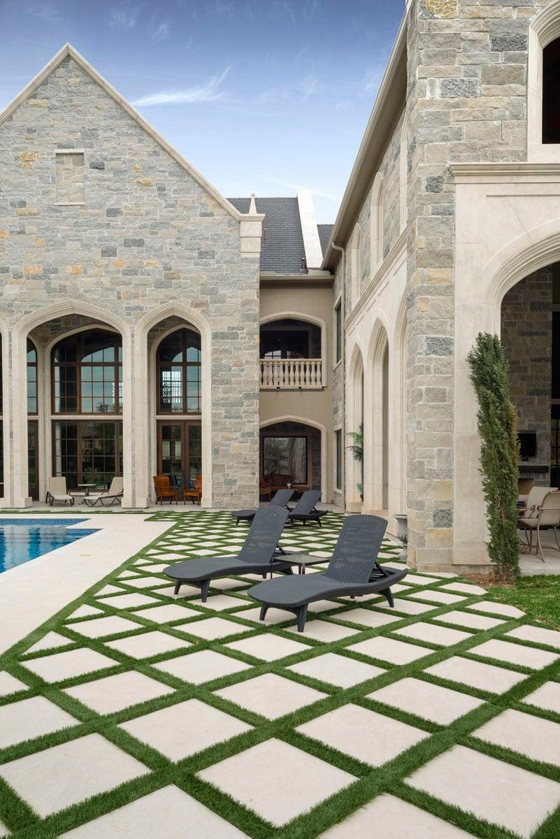 english tudor backyard