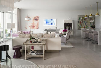 artistic condo living room