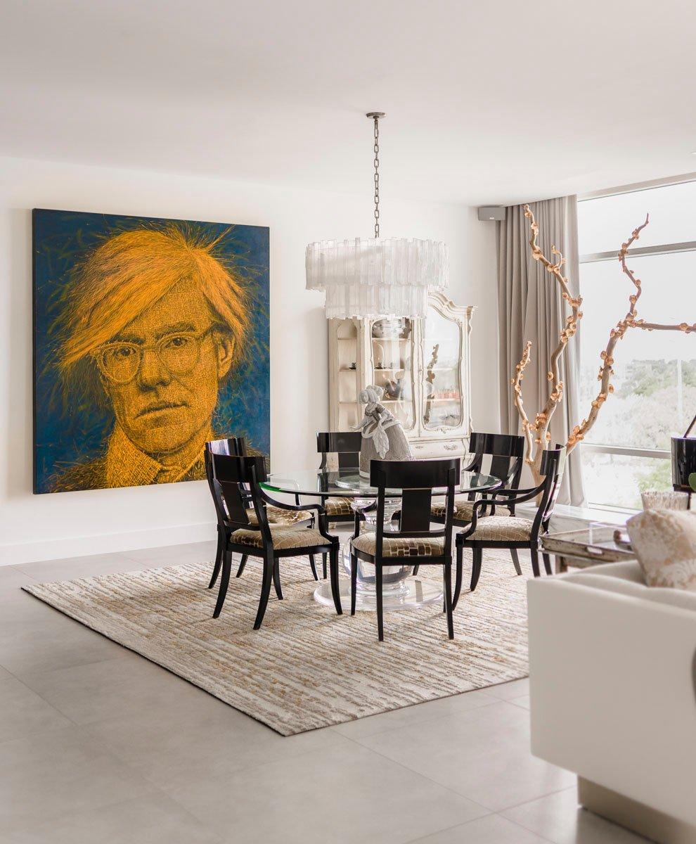 artistic condo dining room
