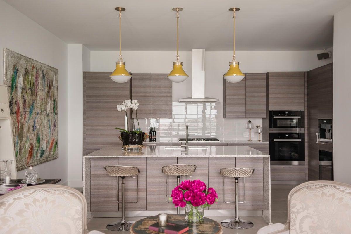art collector custom condo kitchen