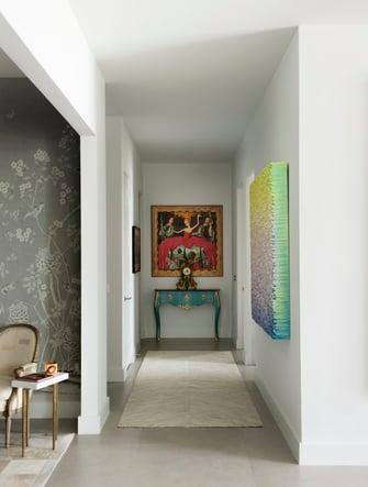 artistic condo hallway