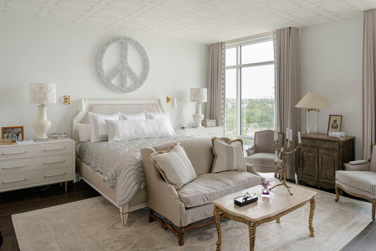 art collector custom condo bedroom