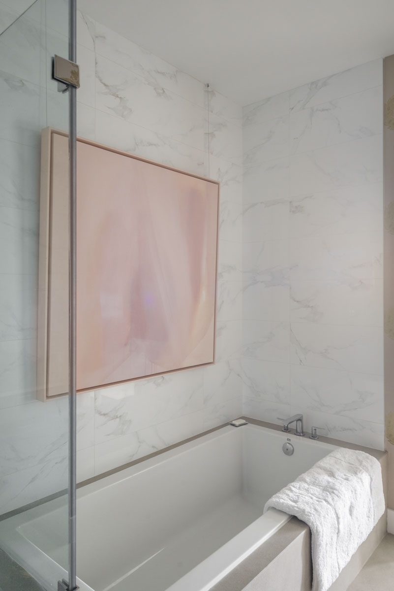 art collector custom condo bathtub