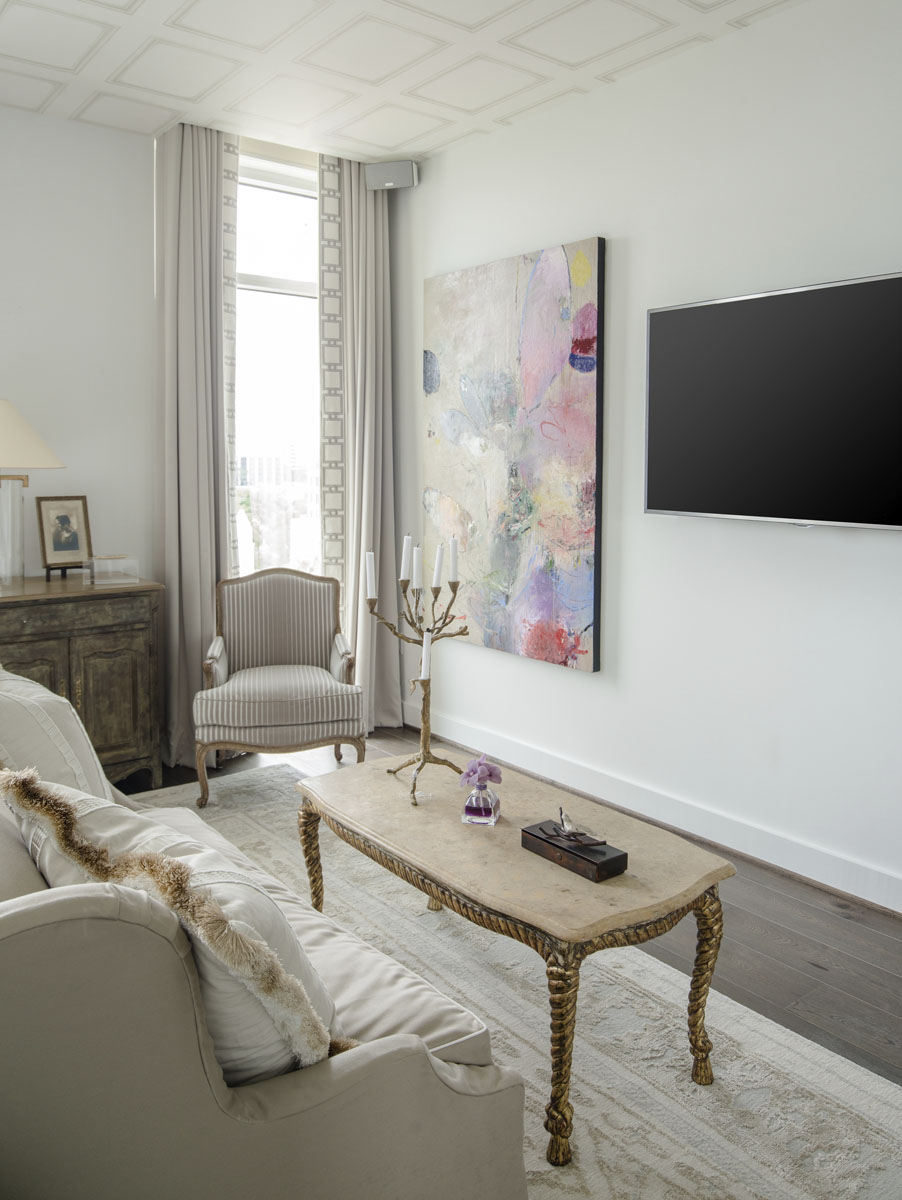 art collector custom condo tv room