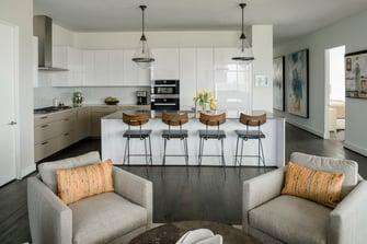 condo transitional custom kitchen