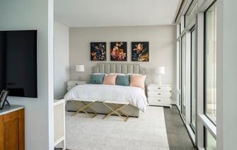 condo transitional custom bedroom