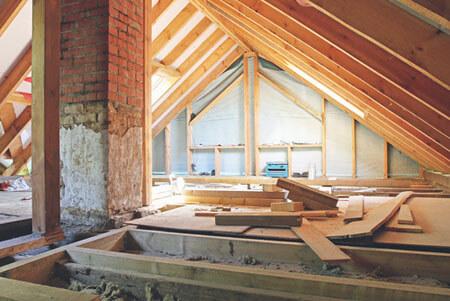 residential construction work in progress