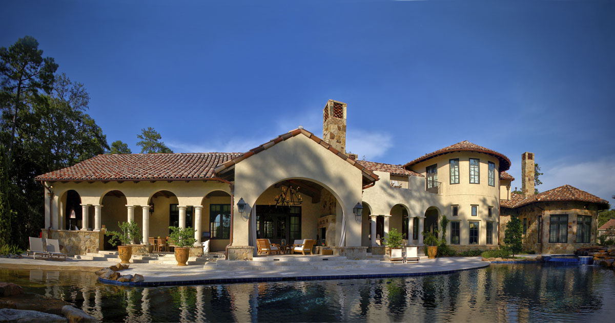 custom tuscan villa houston