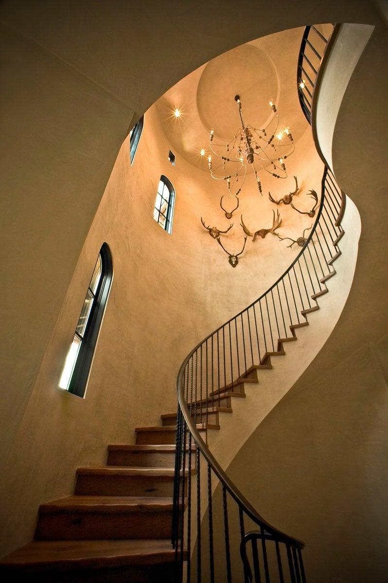 custom tuscan villa staircase
